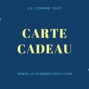 Carte Cadeau Lili Comme Tout