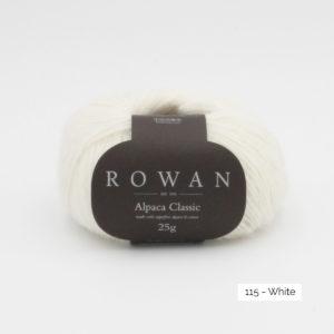 Pelote d'Alpaca Classic de Rowan coloris White