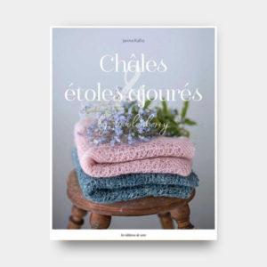 """Couverture du livre de Janina Kallio """"Châles étoles ajourés by Woolenberry"""""""