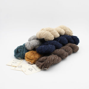 6 écheveaux de Tweed d'Isager dans des coloris assortis