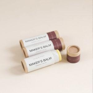 Présentation du baume pour les mains Makers Balm de Twig & Horn