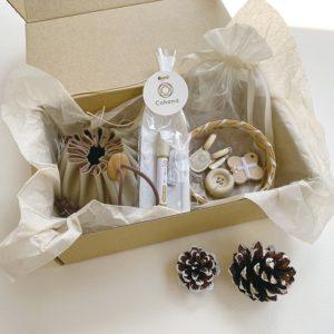 Présentation du kit de couture de l'édition spéciale de noël de Cohana dans son emballage